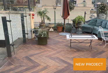 Maintenance of Herringbone Decking  <br> on Terrace of Hotel and Private Club in the City