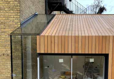 Garapa cladding for Architects extension in Brockley