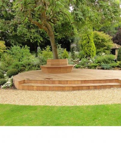 FSC Cumaru KD Decking Pre-Grooved 21 x 145 mm x 4' & Longer